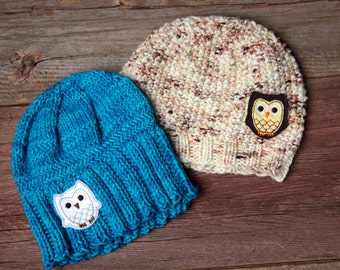 You're a Hoot Owl Knit Beanie, Toddler Beanie Hat