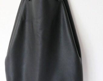 "Oversized leather tote bag ""Black Soil"""