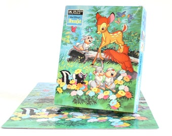 Bambi Jigsaw Puzzle, 200 Piece Disney Puzzle, Golden Puzzles, Children's Puzzles