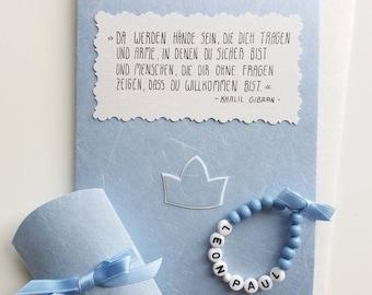 Gift Set retro-baby bracelet and card