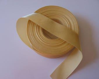 Satin ribbon yellow single face