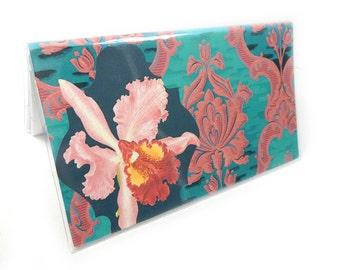 2018 - 2019 mini Planner - Orchid Damask - elegant floral pocket planner - two year planner - 2 year monthly planner horizontal
