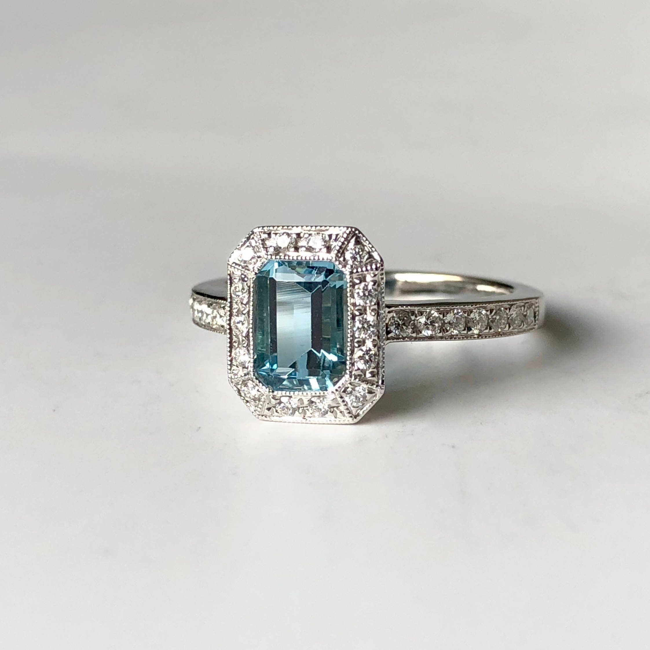in and knotted branded diamond jewellery aquamarine ring jewelry non platinum