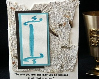 Bar Mitzvah Card or Invitation with Torah Motif and Quote