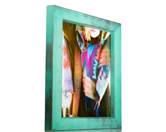 """Craig Frames, 5x7 Inch Turquoise Picture Frame, Gesso 1.25"""" Wide (779007060507)"""