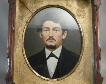 Antique American Walnut Frames, Antique Hand Painted Photograph, Civil War Era Frames, Walnut Frames, Hand Tinted Photographs, **USA ONLY**