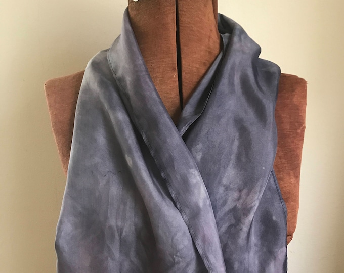 Elderberry dyed  silk scarf, purple naturally dyed scarf 22