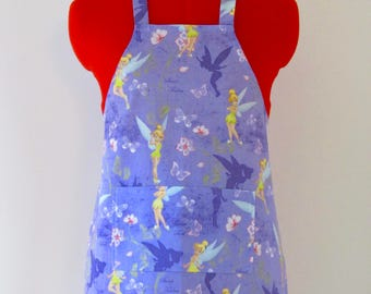Kids Apron - Tinker Bell Children's Apron - Childs Apron - Kitchen Accessory