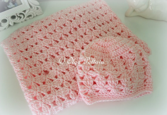 Pink Clusters Baby Blanket And Hat Crochet Patterns Crochet Baby