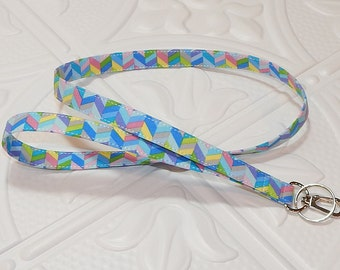 Lanyard -  Key Lanyard - Fabric Lanyard - Id Badge Holder - Teacher Lanyard - Keychain