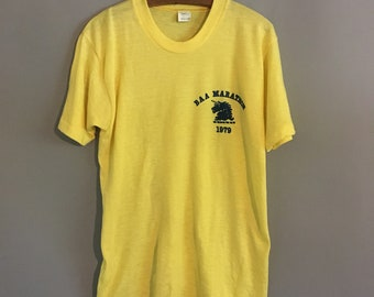 Vintage 1979 Boston Marathon T Shirt Boston Athletic Large Mayo Spruce