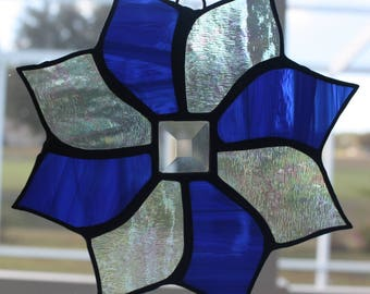 Blue and Clear Pinwheel