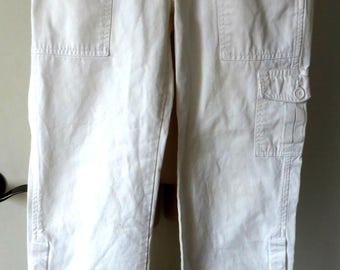 Vintage Clamdigger Pants Abercrombie and Fitch White