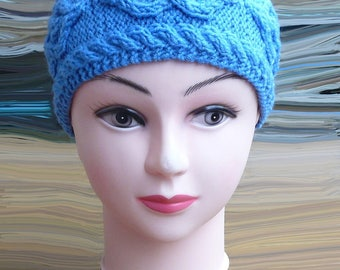 Womens headband, Ear warmers headband, Knitted headband, Cable hair bands, Headwrap, Hair accessories, Wool fashion accessory, Gift for her