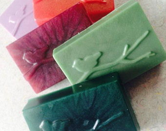 Bird on a Stick Soap - CHOOSE COLOR & SCENT - 5 oz. - Vegan bath gift soap