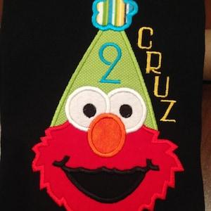 Inspired Elmo birthday applique t shirt