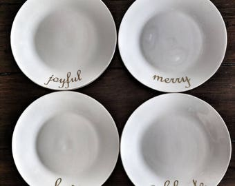 Holiday appetizer plates