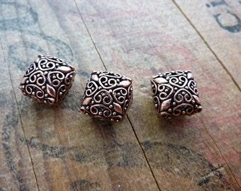 Metal Bali Style Bead Copper Filigree Beads (2) IC418