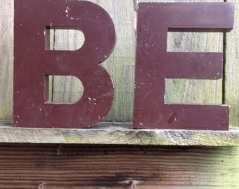 Large Letters B and E in Cast Aluminum
