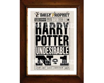 Harry Potter Digital Art Print  - Undesirable #1