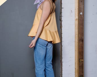 SAMPLE SALE - Peach organic cotton camisole - Spring womens top