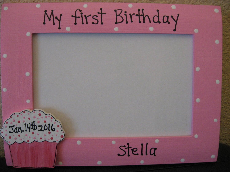 Mädchen ersten 1. Rahmen Geburtstag Geburtstagsfeier