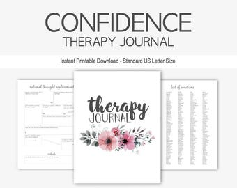 Confidence Therapy Journal: Instant Printable Download, Self Esteem, Mental Health, Cognitive Behavior, Self Esteem, Daily Food, Sleep Diary