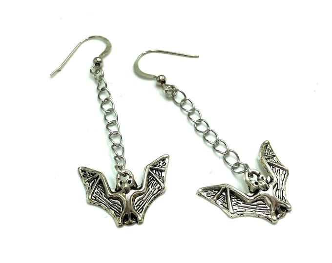 BATACULAR: dangly bat earrings