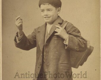 Young boy shoe shiner antique art cabinet photo by Mundy