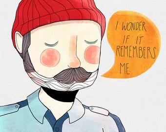 I Wonder If It Remembers Me - Illustration Print