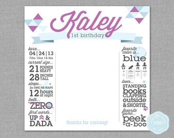 Modern Triangle Infographic Photo-op Banner [Printable | DIY | Digital File]