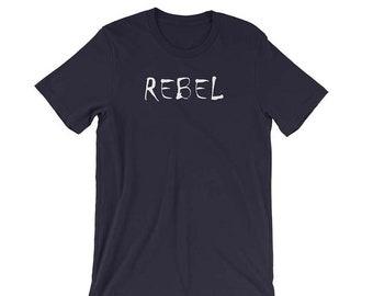 Rebel T-Shirt, Rebel T Shirt, Bad Girl Shirt, Gift for Her, Resist, Retro Style, Birthday Gift, T-Shirt, Women's Clothes, Top