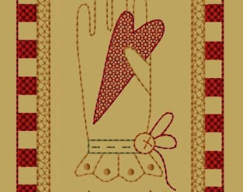 MACHINE EMBROIDERY-Keeper Of My Heart-Block-1-Colorwork-5x7-Instant Download