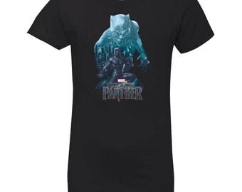 Marvel Black Panther T Shirt Wakandas Finest Shirt Grils Princess T-Shirt