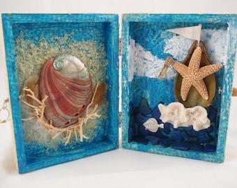 Once Upon a Sea Original Mixed Media Keepsake Art Treasure Chest