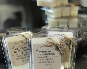Strawberry Fields Forever - The Beatles Wax Melts Natural Soy Wax