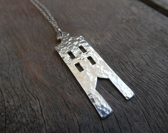 Amsterdam House No 3 Sterling Silver Necklace
