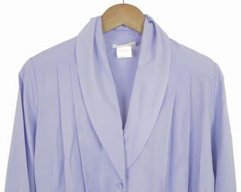 Vintage Lucia Purple Button up Blouse