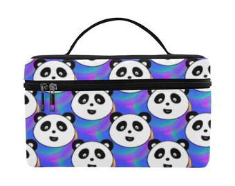 Panda Party, Large Insulated Lunch Bag, food storage, lunch bag, lunch tote