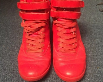 Reebok X Alicia Keys Red High Tops Freestyle Cradle Limited Edition