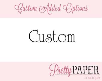 Custom - Thank You Card Add On