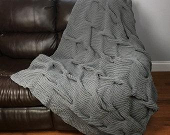 Knitting Pattern ~ Lazy Cable Blanket ~ Knitting Pattern