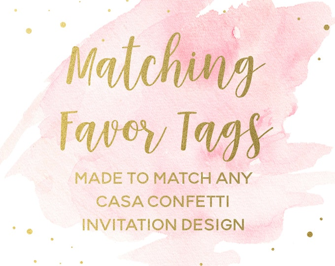 """Matching 2"""" Square Favor Tags for any Design, Custom Baby Shower Birthday Bridal Shower Baptism Favor Tags, Party Printable Decorations"""