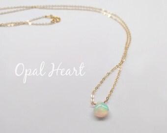 Opal necklace • Genuine Gemstone necklace • Dainty Gemstone necklace • October birthstone Necklace