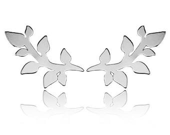Earrings Leaves  Sterling Silver 925