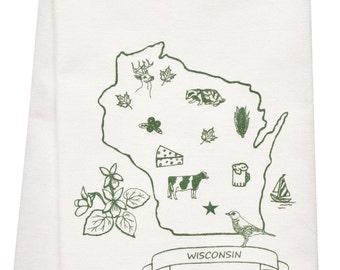 Wisconsin organic  tea towel SECOND BEST