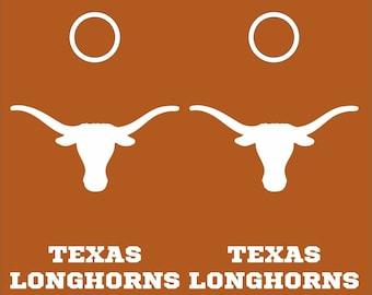 Texas Longhorns Cornhole Decal Set 8pc - 2 Free Window Decals
