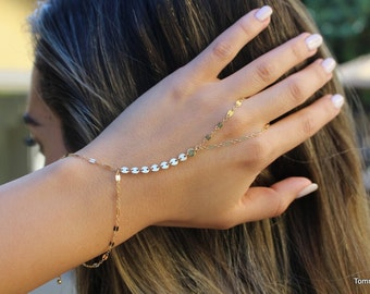 free people Gold Bracelet | Chain Hand Bracelet | Slave Bracelet | hand chain |  Finger Bracelet | hand bracelet | hand jewelry |