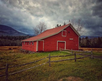 Red Barn Photography, Countryside Photography, Landscape Photography, Wall Decor, Wall Art