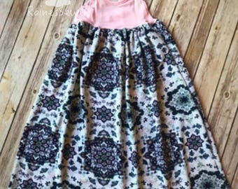 Mommy and Me Maxi Dress-Mommy and Me Summer Dress-Boho Dress-Cross Back Strap Dress-Maxi Dress-Summer Dress-Girl's Cami Dress